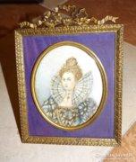 I. Erzsébet angol királynő miniatűr portréja