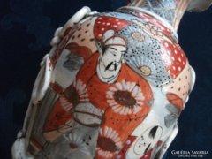 Japán antik-Satsuma Kyoto Shinto váza-25 cm