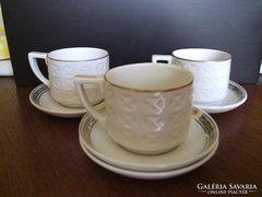 Hollóházi kávéscsésze és tányér
