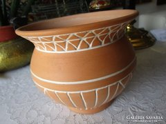 PANNONIA SOROZAT jelzett kerámia dísz váza - kaspó