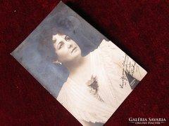 BLAHA LUJZA eredeti autográf fotó Budapest 1912