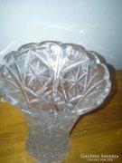 Metszett üveg, kristály váza