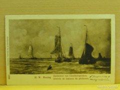 0A927 Antik képeslap halászhajók 1920 előtti