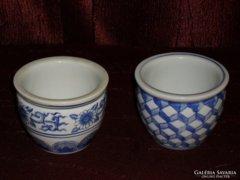 2 db porcelán kaspó  ( DBZ0044 )
