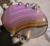925 ezüst gyűrű 18,7/58,7 mm, botswana acháttal