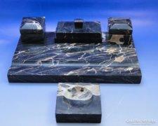 0A724 Antik márvány íróasztali készlet kalamáris