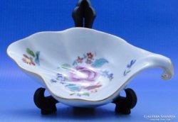 0B510 Levél alakú herendi porcelán tálka hamutál