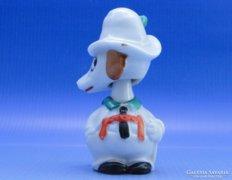 0B512 Különleges jelzett forgó fejű porcelán kutya