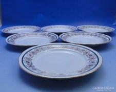 0B597 Régi EPIAG porcelán süteményes tányér 6 db