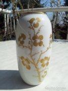 Hollóházi aranyvirágos váza