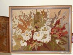 Gobelin virágos kép