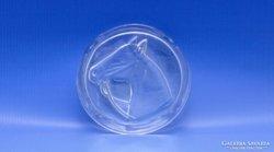 0B721 Régi lófejes üveg hamutál