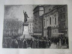 NAGY ZOLTÁN: BUDAPEST március 15,-i tér kép 1942