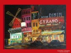 Moulin Rouge - Vörös Malom mulató - kuriózum ! Nagyméretben