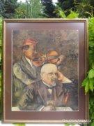 MÓRA JÓZSEF: MUZSIKASZÓ, PASZTELL,1926