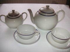 Zsolnay  szép  régi  teás ...két személyre