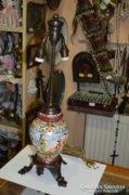 Német porcelán asztali lámpa