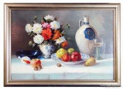 0C188 Molnár Z. János : Asztali virágcsendélet