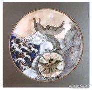 0C232 Tóbiás Klára tűzzománc kép : Cantata Profana