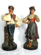 Antik Bécsi 1870.Bernard Bloch figurális szobor váza 2db