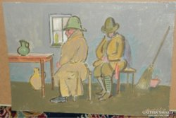 Miklós István festőművész festménye