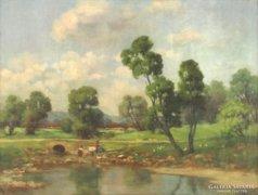 Magyar festő, XX. század első fele : Mosás a patak