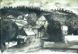"""Lenkey Zoltán : """"Táj"""" 1961"""