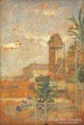 Magyar festő, 1940 körül : Kilátás a teraszról