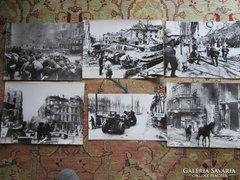 1945 SZOVJET katonák Budapest 6 db háború fotó