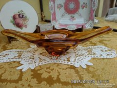 Méz színű üveg asztalközép