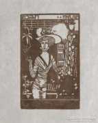 Tichy Gyula: Parisienne, 1910-Szecessziós nőalak