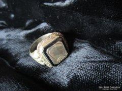 ANTIK Ezüst címeres pecsét gyürü férfi M: 21 ékszer