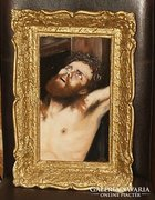 Gyönyörű olajfestmény:Jézus a Golgotán