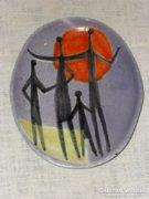 Iparművészeti falitányér  ( DBZ0059 )