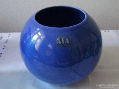 Kék kerámia gömbváza, ASA