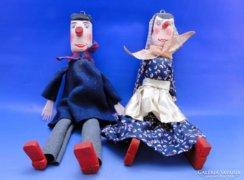 0B428 Régi marionett bábu pár