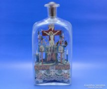 0B864 Antik türelemüveg pincetokban 1850 körül