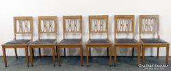 0C821 Antik szecessziós támlás szék 6 db