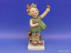 0D057 Régi Hummel virágos kislány TMK 5