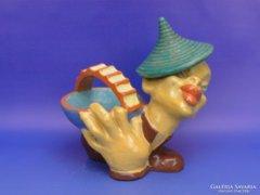 0D077 Art deco komlós kínáló tál keleti figurával