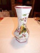 Olasz majolika váza,jelzett, számozott, ceramic vase, signed (70)