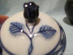 Cu3 Antik Bavaria rózsás tetejű cukortartó bonbonier