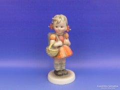 0C985 Antik Hummel hátizsákos kislány TMK 1