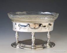 Ezüst klasszicizáló asztalközép