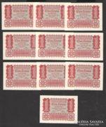 1 korona 1922. (10 db)!  Tökéletes UNC!