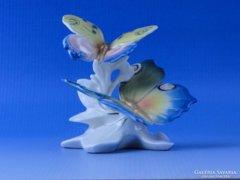 0D141 Antik ENS porcelán pillangó pár