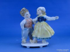 0B787 Régi ENS porcelán kisfiú kislány páros