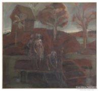 Magyar festő 1970 : Vízparton