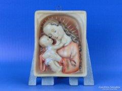 0D258 Antik Hummel falikép Mária gyermekével TMK 1