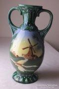 Szélmalmos kerámia váza